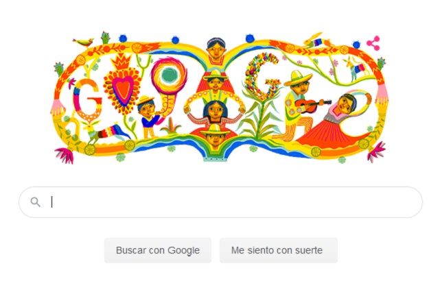 Google grita ¡viva México! Con un doodle tricolor