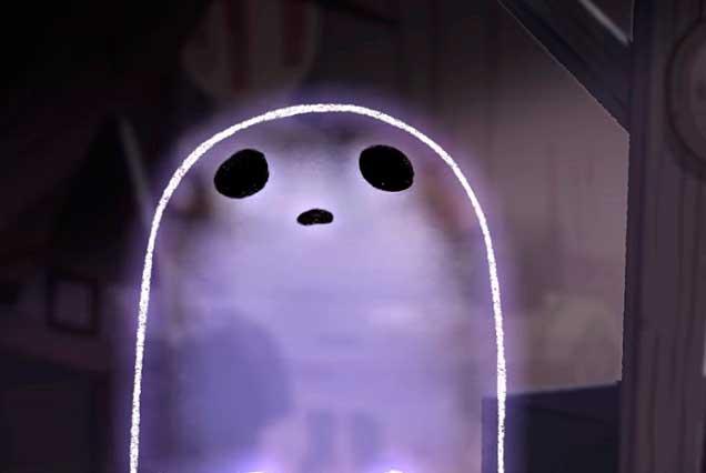Google usa tierno y temeroso fantasma en Doodle para Halloween