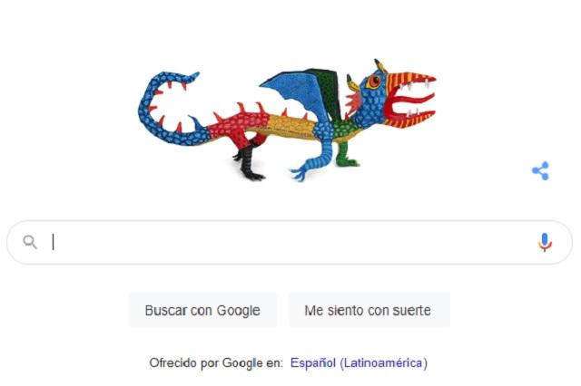Googe dedica un Doodle a Pedro Linares López, creador de los alebrijes