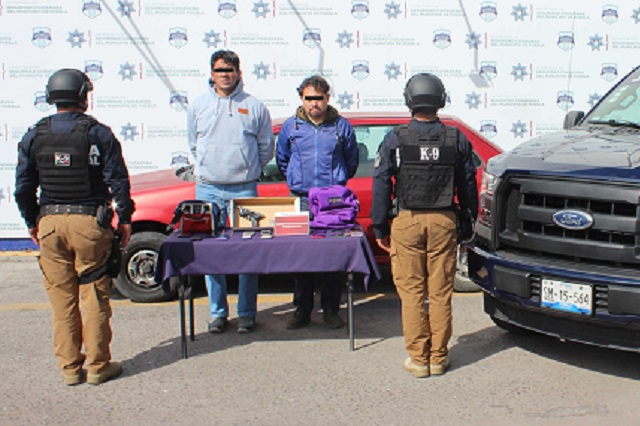 Policía capitalina detiene a dos asaltantes del transporte público