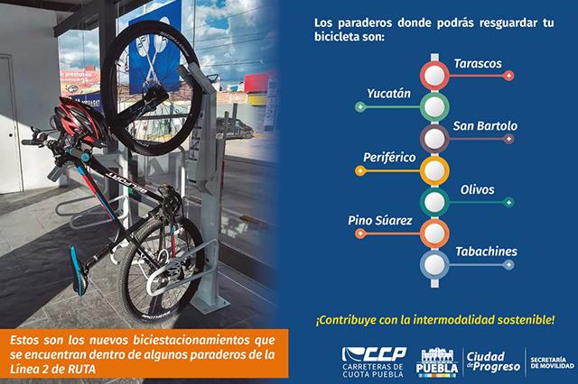 Colocan bici-estacionamientos en la línea 2 del Metrobús