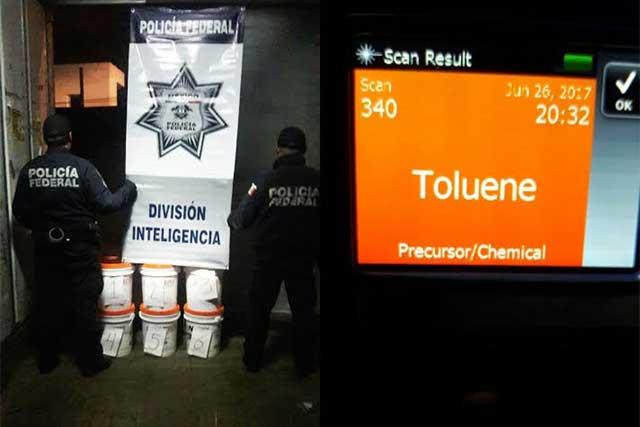 Policía Federal detiene camión con sustancia para drogas sintéticas