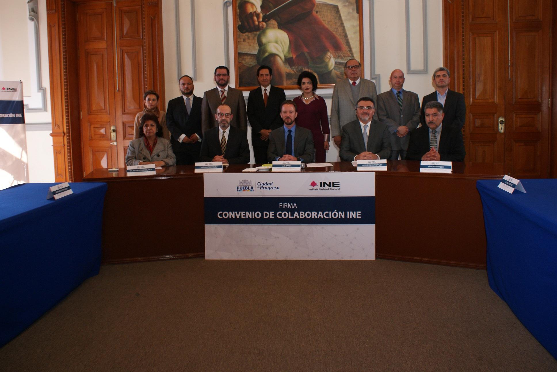 INE y Puebla capital firman convenio por propaganda electoral