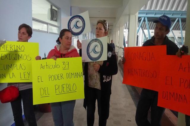 Chipileños exigen a Conagua frenar proyecto en junta auxiliar