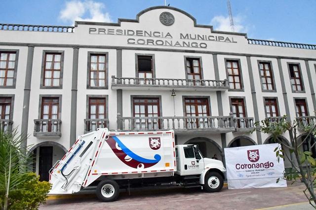 Entrega edil de Coronango nuevo camión recolector de residuos