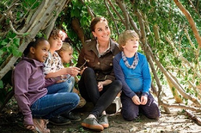 Kate Middlenton participó en el programa infantil Show Blue Peter