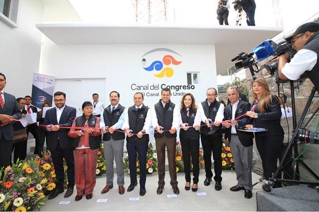 Inauguran estación transmisora del Canal del Congreso en el Chiquihuite