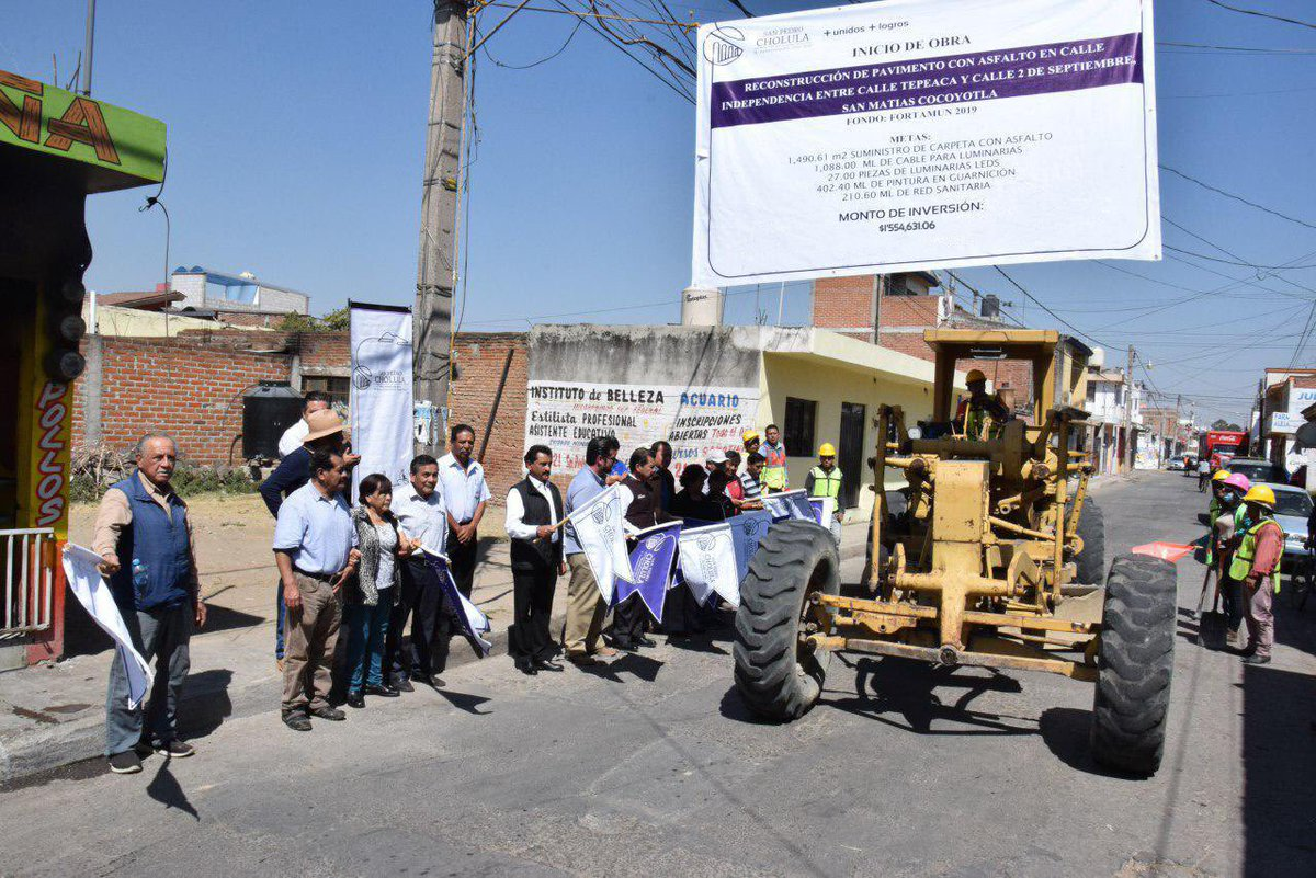 Aumenta gobierno de San Pedro Cholula obras y servicios