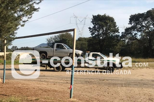 Descubren toma clandestina en terrenos de Xonacatepec