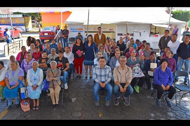 Entregan Unidad Móvil Alimentaria en San Juan Tuxco, en Texmelucan
