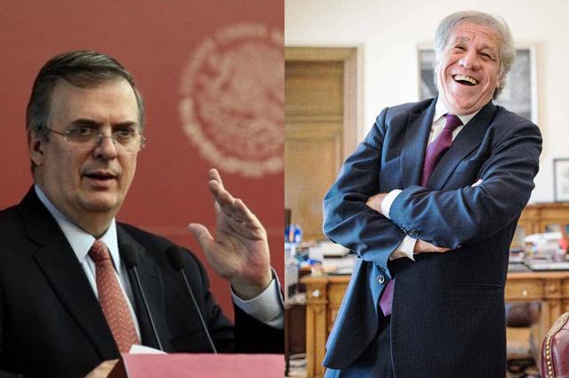 Luis Almagro, el peor al frente de la OEA: Ebrard