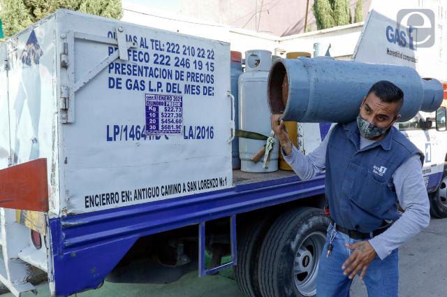 Gas sube más de 100% en Puebla