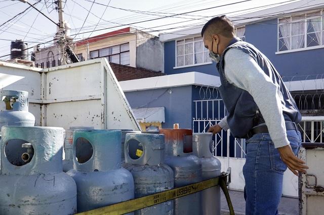 Costará 65 pesos más un tanque de gas de 20 litros en Puebla