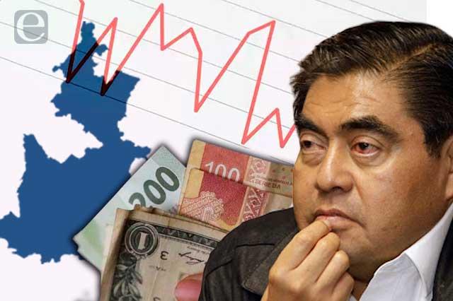 Caen los indicadores económicos de Puebla con gobierno de Barbosa