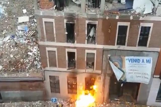 Video e imágenes: Explota edificio en Madrid, España