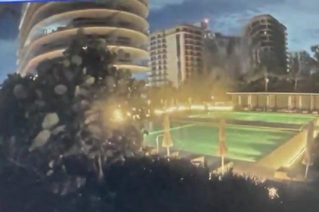 Video: Captan el momento en que colapso edificio de 12 pisos en Miami