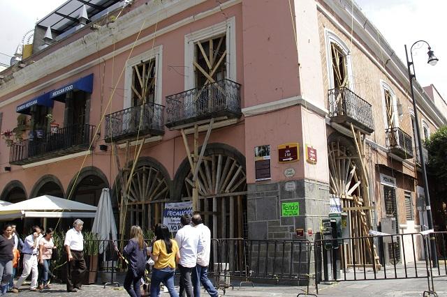 Siguen sin arreglo 14 casonas del centro histórico tras el 19S