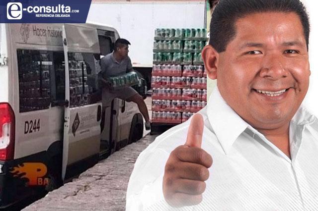 Edil de Ixtepec dice ignorar que unidad del DIF acarreaba chelas