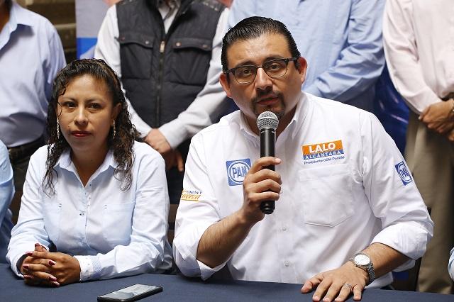 Mano de Regordosa en elección interna del PAN, acusa Alcántara