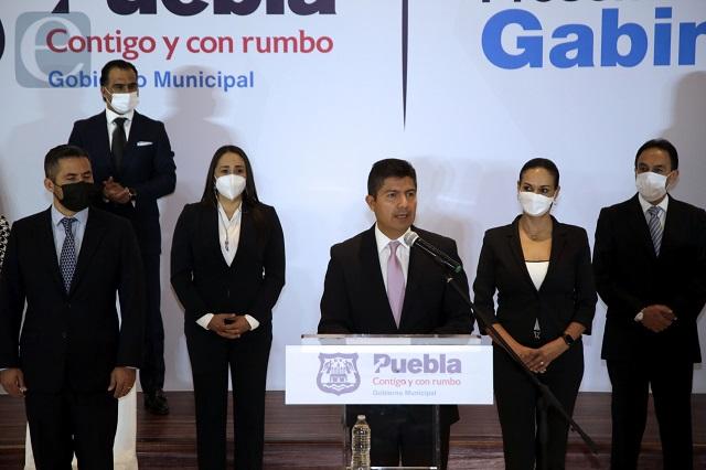 Presenta Eduardo Rivera primera parte de su gabinete
