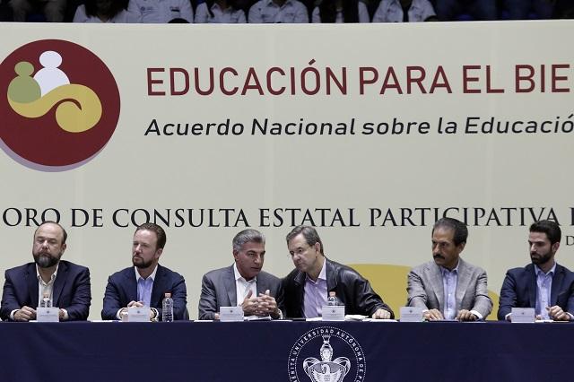 Encabeza Esteban Moctezuma Foro Estatal por la Educación
