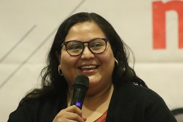 Se reelegirán morenistas en Puebla solo con resultados: Citlalli Hernández