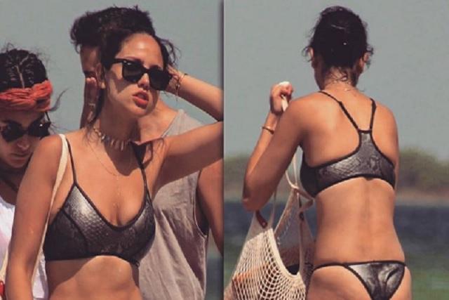 Eiza González se pasea en bikini y no esconde celulitis