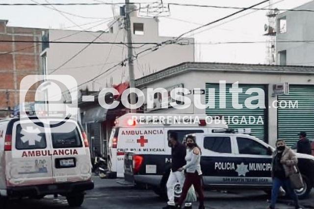 Matan a hombre en el Mercado Domingo Arenas en Texmelucan