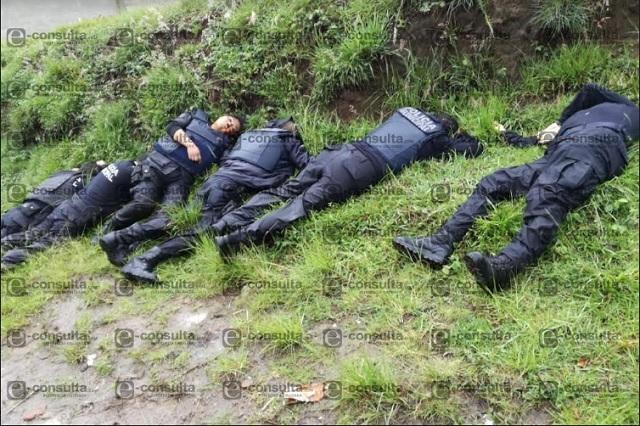 Detienen a mandos en Amozoc tras ejecución de 6 policías