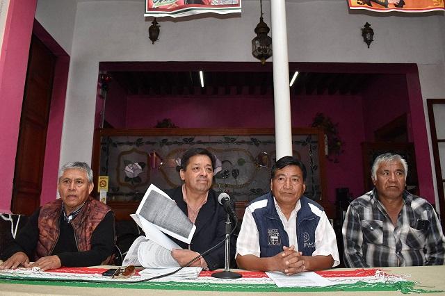 Ganan juicio en La Resurrección y exigen a Puebla les restituya tierras
