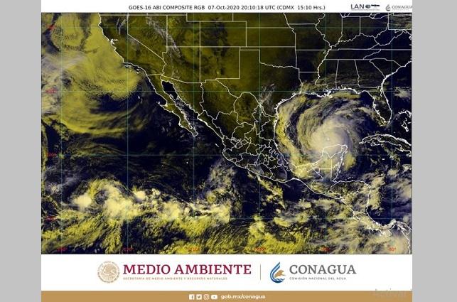 Persistirán lluvias intensas en península de Yucatán por Delta