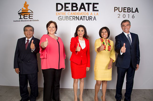 Realizan debate entre candidatos a la gubernatura
