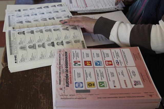 Todas las actas de la elección ya están en manos del IEE