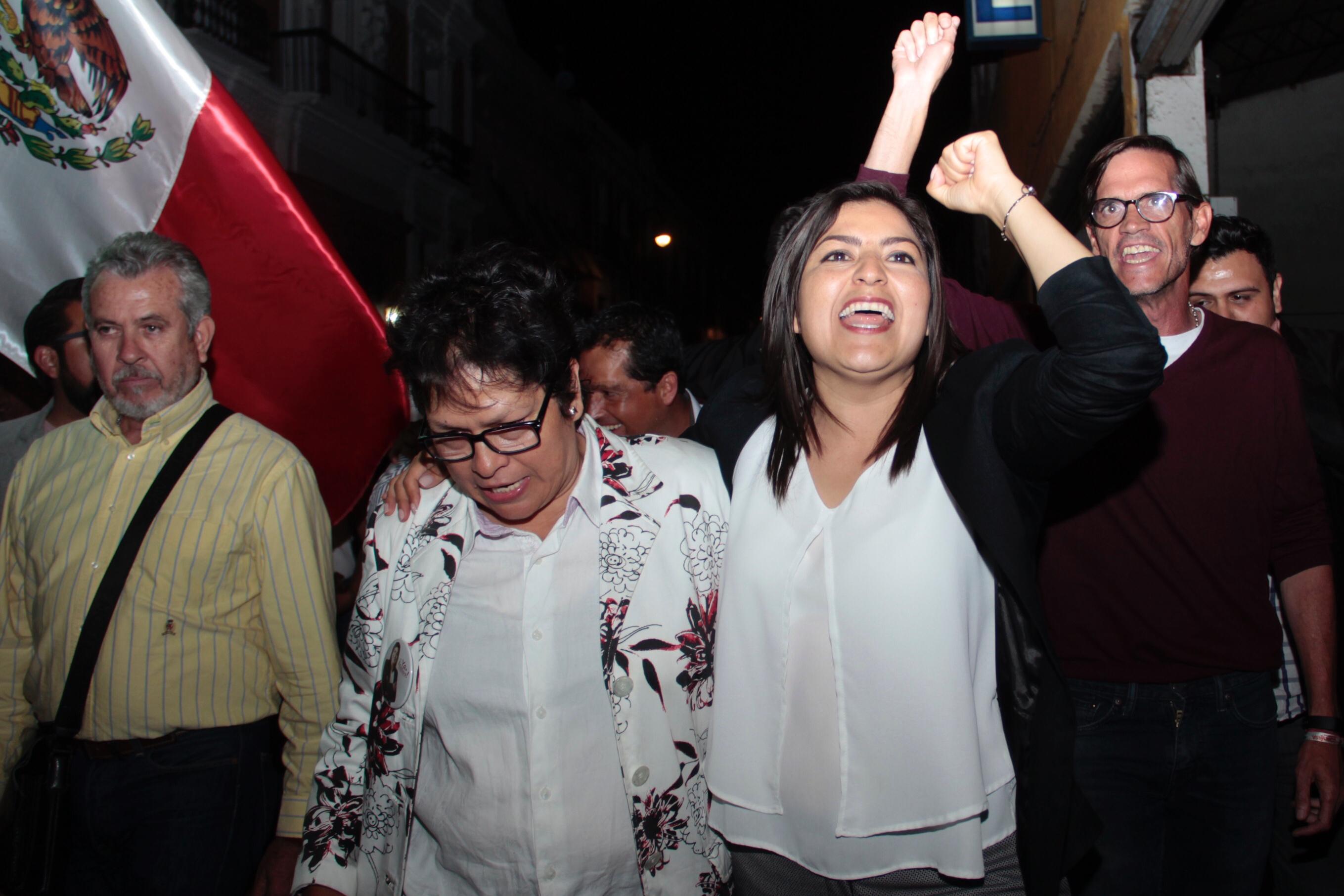 Aventaja Claudia Rivera en elección por la alcaldía de Puebla