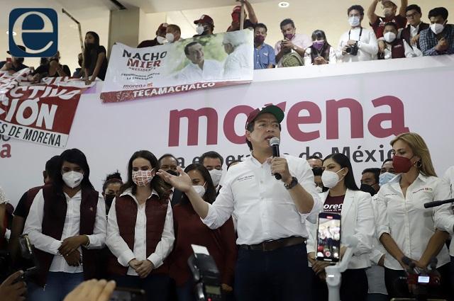 Zafarrancho en Morena impide discurso de Mario Delgado