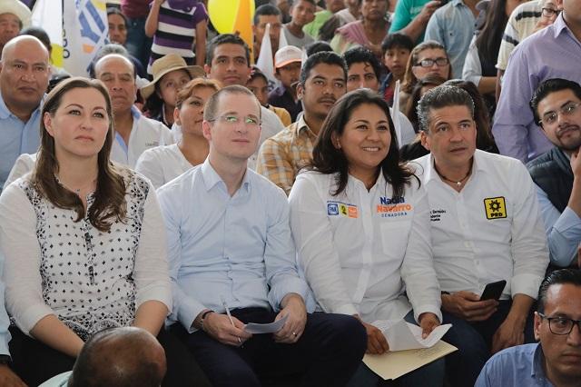 Achaca Anaya al gobierno federal alza del huachicol en Puebla