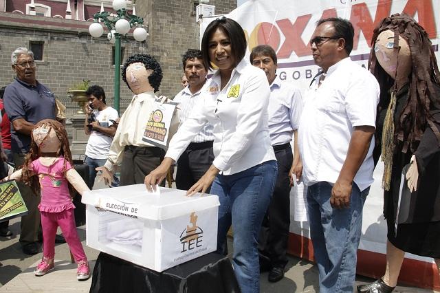 Reitera Roxana Luna llamado a votar en paz contra PRI y PAN