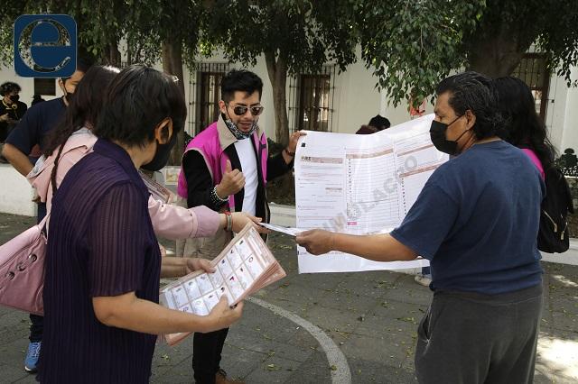 Por error del IEE, boletas de 8 distritos debieron reimprimirse