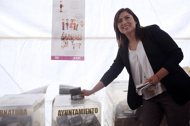 Niega Claudia Rivera que jóvenes detenidos hayan comprado votos