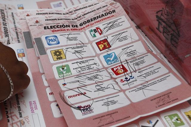 Prevén recuentos parciales de votos en Zacapoaxtla y Tepeaca