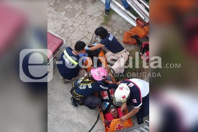 Electricista sufre descarga en San Lorenzo Almecatla