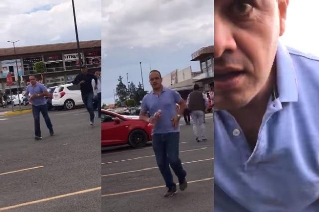 Agrede regidor de Morena a mujer afuera de casilla en Puebla