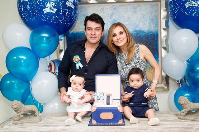 Elizabeth Álvarez felicita con tierna foto familiar a Jorge Salinas por su cumpleaños
