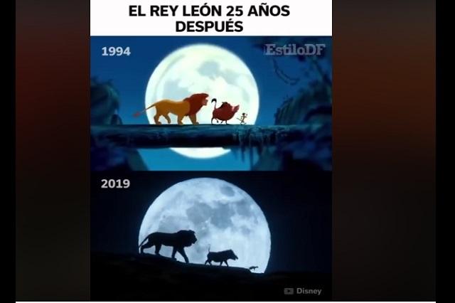Comparan escenas del Rey León de 1994 con live action de 2019