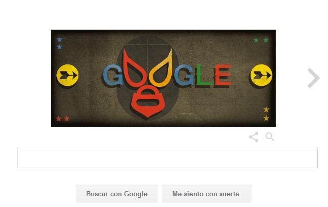 Google rinde homenaje a El Santo con un colorido doodle