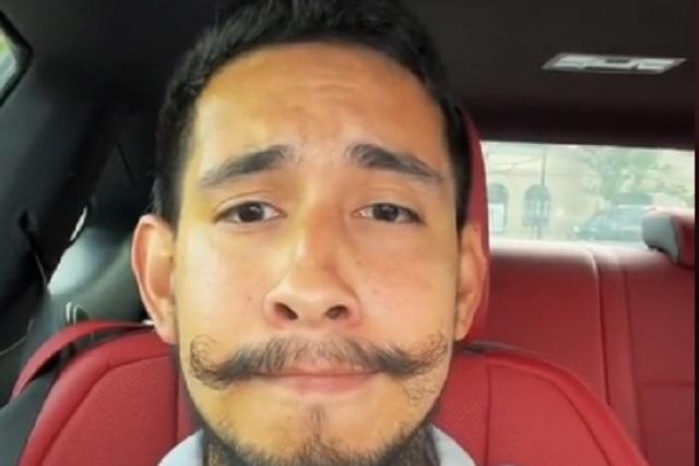 Foto: Así se ve sin bigote El Toluco, aficionado que se hizo viral con su novia