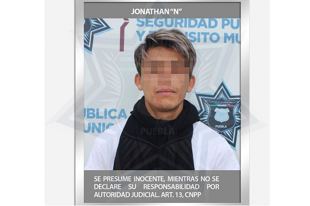 Detuvo policía de Puebla a