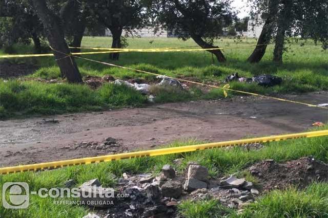 Hallan cadáver embolsado en San Martín Texmelucan