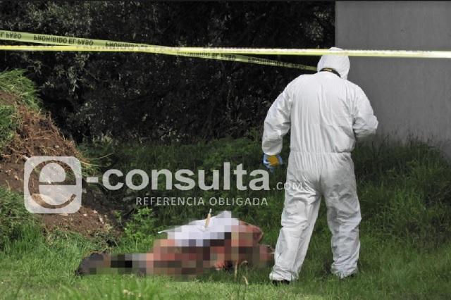Cadáver desmembrado y con mensaje, en la Puebla-Orizaba