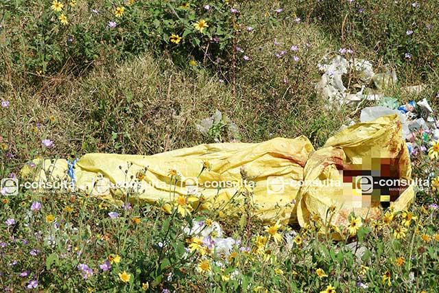 Ahora hallan cadáver embolsado en San Jerónimo Caleras